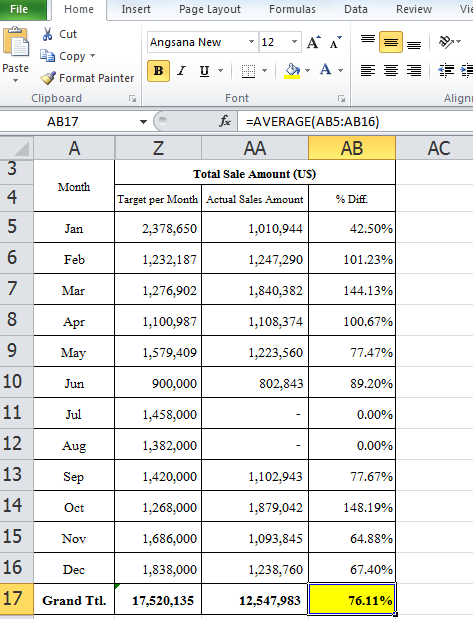 3 way calculate percentage between two